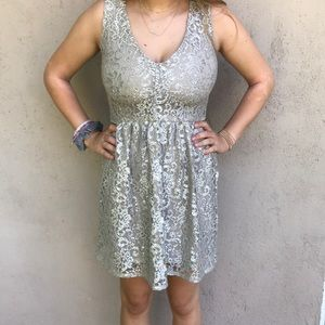 Eighty sixty silver mini dress
